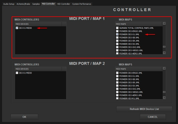 DJ ProMixer MIDI Pioneer DDJ-S1