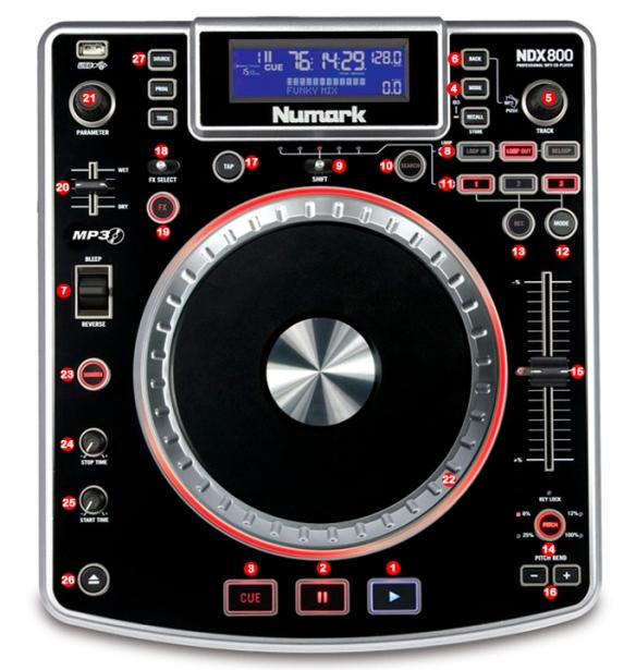 DJ ProMixer Numark NDX 800 Map
