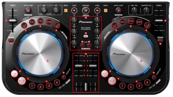 DJ ProMixer Pioneer DDJ - Weego Map