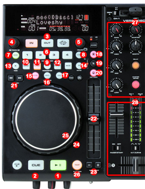DJ ProMixer American Audio Versadeck map detail