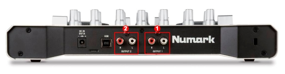 DJ ProMixer Numark Omni Control Audio Rear External