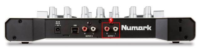 DJ ProMixer Numark Omni control Audio Rear Internal