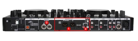 DJ ProMixer Denon MC6000MK2 Audio Outputs