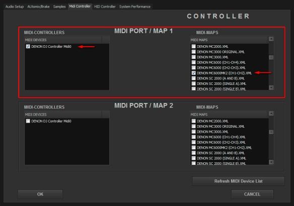 DJ ProMixer Denon MIDI  MC - 6000 MKII