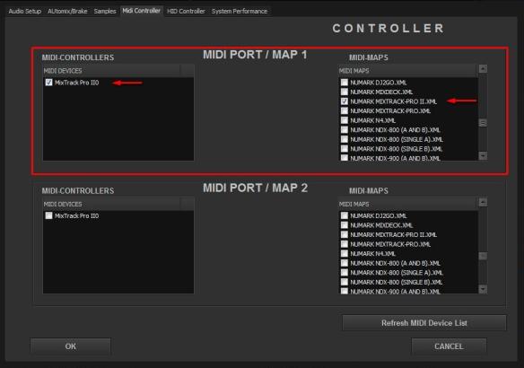 DJ ProMixer MIDI Mixtrack 2