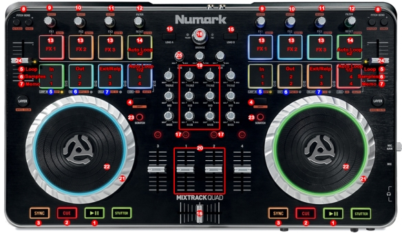 DJ ProMixer Mixtrack Quad map