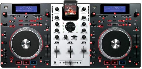 DJ ProMixer Numark Mixdeck map