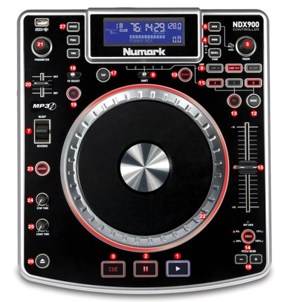DJ ProMixer Numark NDX 900 Map
