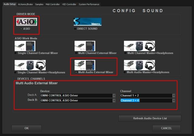 DJ ProMixer Numark Omni Control ASIO External
