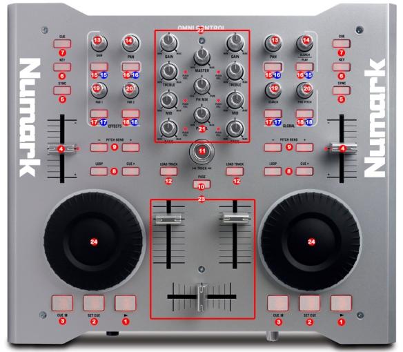 DJ ProMixer Numark Omni control MIDI map