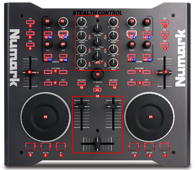 DJ ProMixer Numark Stealth Control MIDI map