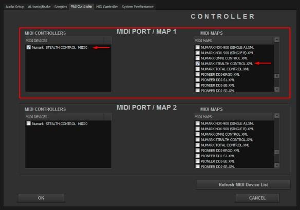 DJ ProMixer Numark Stealth Control MIDI