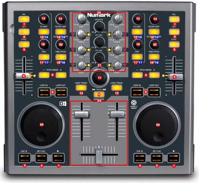 Numark Total Control MIDI map
