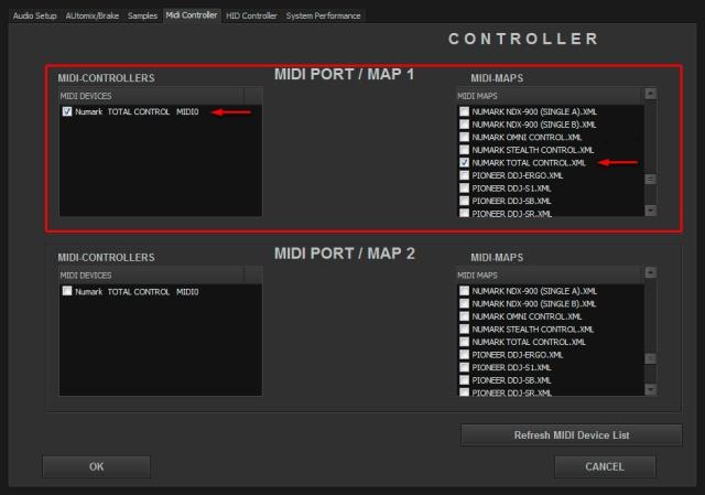 DJ ProMixer Numark Total Control MIDI