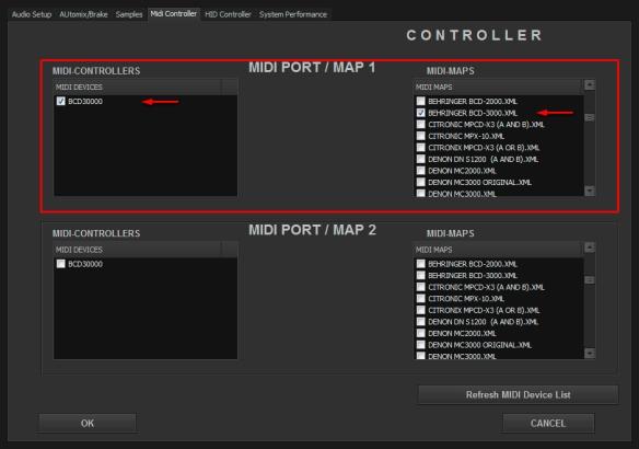 DJ ProMixer MIDI Behringer BCD-3000
