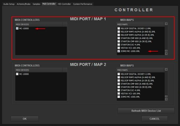 DJ ProMixer MIDI Zomo MC - 1000