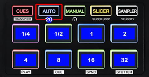 DJ ProMixer Akai AFX PAD Detail map AUTOLOOP