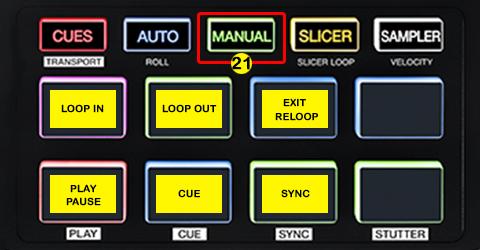 DJ ProMixer Akai AFX PAD Detail map MANUAL LOOP