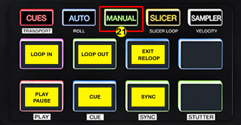 DJ ProMixer Akai AFX PAD Detail map MANUAL LOOP