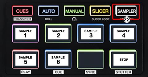 DJ ProMixer Akai AFX PAD Detail map SAMPLER