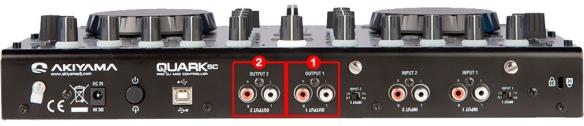 DJ ProMixer Akiyama Quark Audio Connections External