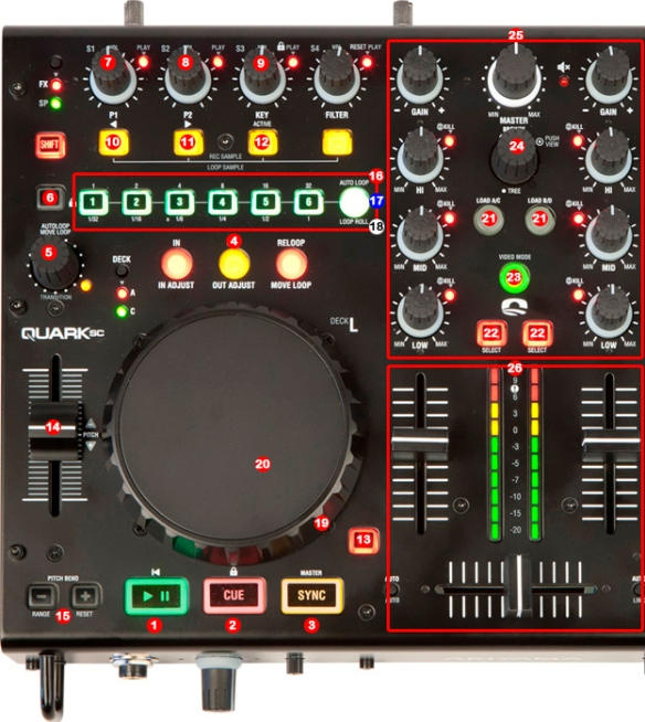 DJ ProMixer Akiyama Quark map detail