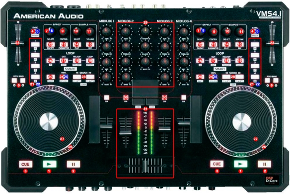 DJ ProMixer American Audio VMS 41 map2