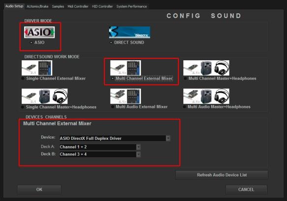 DJ ProMixer ASIO Hercules DJ 4Set Multi Channel External Mixer