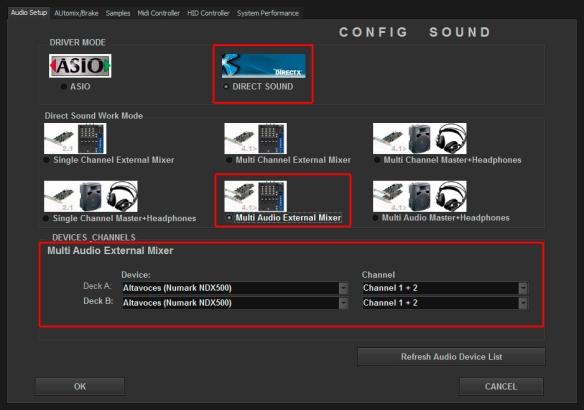 DJ ProMixer Audio Numark NDX 500