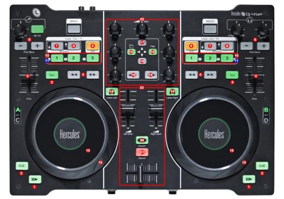 DJ ProMixer Hercules DJ 4Set map
