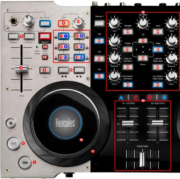DJ ProMixer Hercules DJ Console 4 Mx map detail