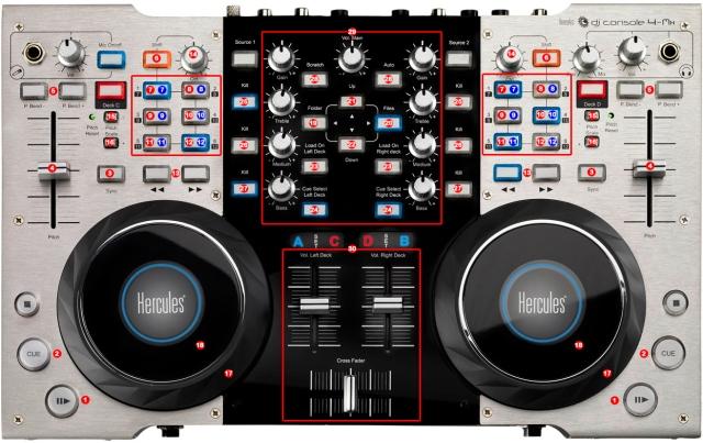 DJ ProMixer Hercules DJ Console 4 Mx map