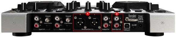 DJ ProMixer Hercules DJ Console RMX 2 Audio Connections_1