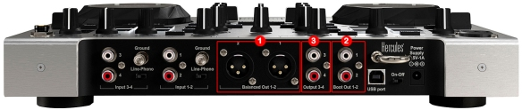 DJ ProMixer Hercules DJ Console RMX 2 Audio Connections_2