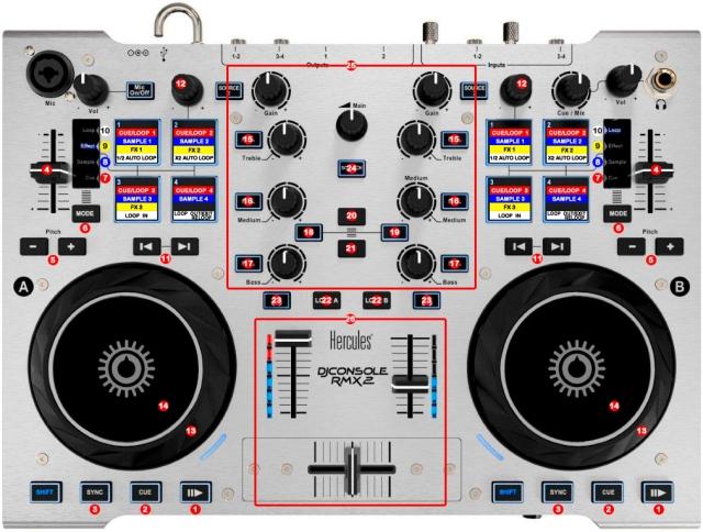 DJ ProMixer Hercules DJ Console RMX 2 map