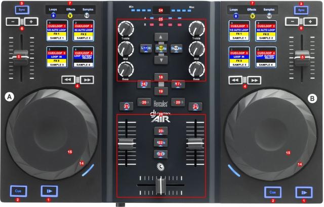DJ ProMixer Hercules DJ Control Air map