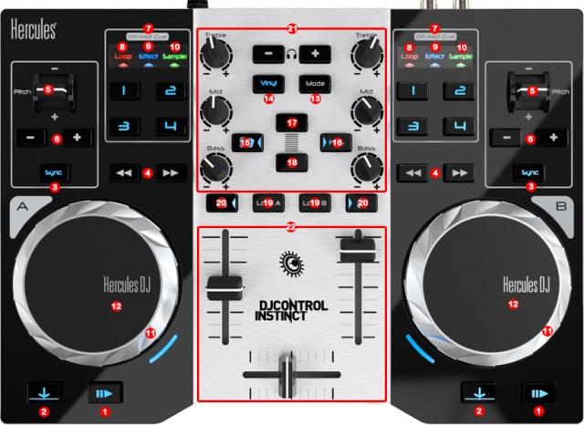DJ ProMixer Hercules DJ Control Instinct S map