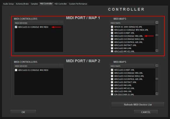 DJ Promixer MIDI Hercules DJ Console 4 Mx