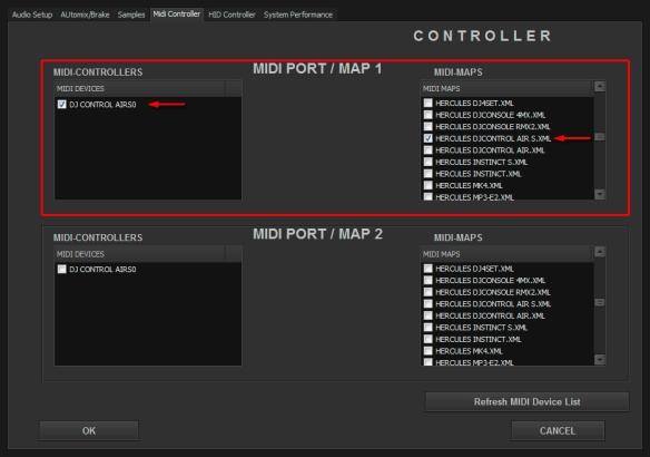 DJ ProMixer MIDI Hercules DJ Control Air S