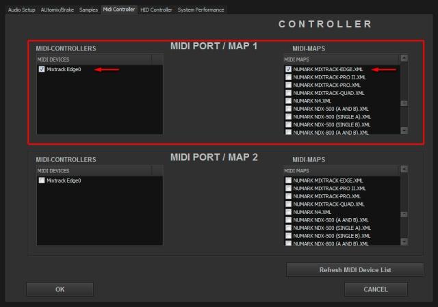 DJ ProMixer MIDI Mixtrack Edge