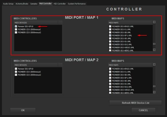 DJ ProMixer MIDI Pioneer DDJ-SP1