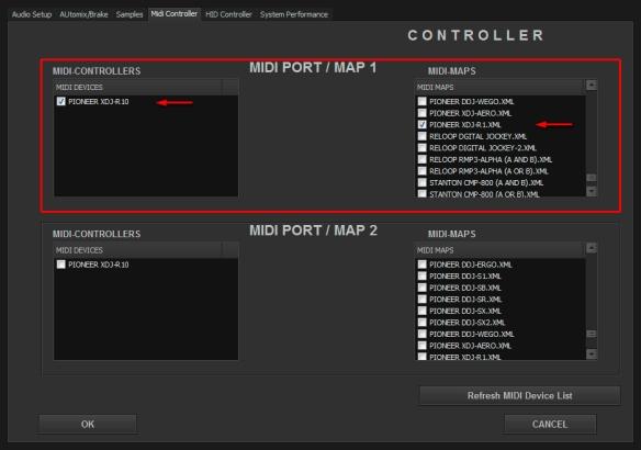 DJ ProMixer MIDI Pioneer XDJ-R1