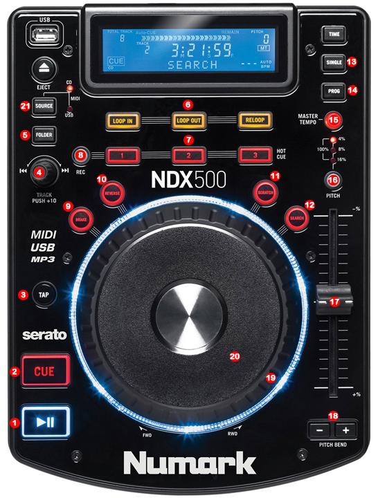 DJ ProMixer Numark NDX 500 Map