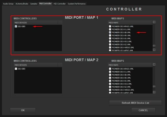 DJ ProMixer Pioneer DDJ-SB MIDI