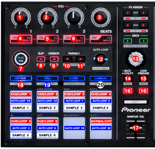 DJ ProMixer Pioneer DDJ-SP1 map detail