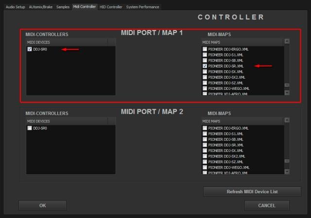 DJ ProMixer Pioneer DDJ-SR MIDI