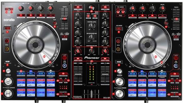 DJ ProMixer Pioneer DDJ-SR_map