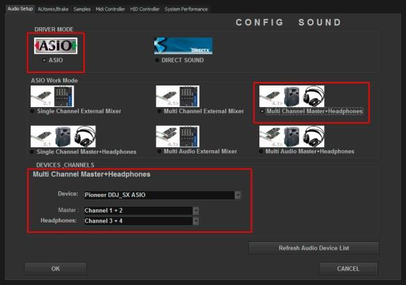 DJ ProMixer Pioneer DDJ-SX Audio_ASIO