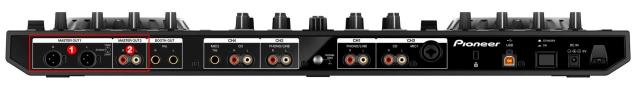 DJ ProMixer Pioneer DDJ-SX2_audio connection