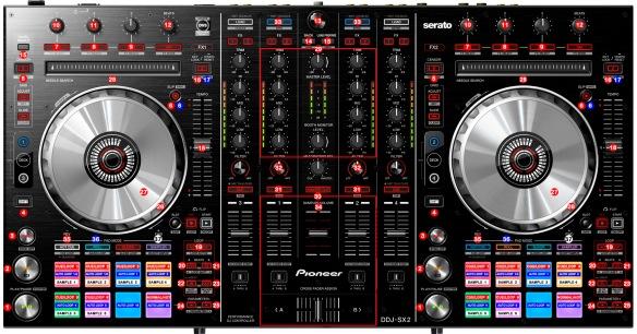 DJ ProMixer Pioneer DDJ-SX2_map